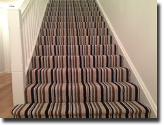 Vogue twist pile stripe carpet