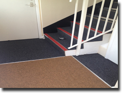 New Aquarius carpet fitted with Quantum nosing in communal area