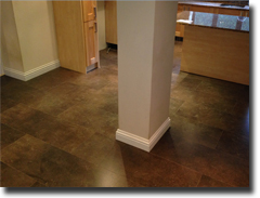 Stone effect laminate flooring