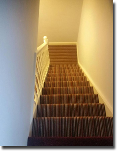 Stripe fitted on double hall, stair and landing
